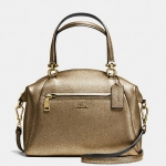 Coach metallic pebble leather prairie satchel # 36325 สี LI/GOLD