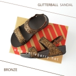 * NEW * FitFlop : GLITTERBALL Sandal : Bronze : Size US 8 / EU 39
