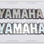 โลโก้ YAMAHA สีเงิน (2ชิ้น)