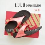 **พร้อมส่ง** FitFlop LULU Shimmersuede : Flame : Size US 9 / EU 41
