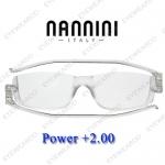 แว่นอ่านหนังสือ Nannini ทรงใหญ่ เบอร์ +200