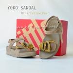 **พร้อมส่ง** รองเท้า FitFlop YOKO SANDAL : Mink / Yellow Pear : Size US 9 / EU 41
