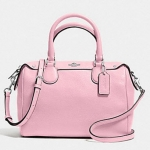 COACH PEBBLED LEATHER MINI BENNETT SATCHEL # 36677 สี SV/PETAL