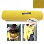 ผ้าพันคอแฟชั่นเกาหลีสีพื้น ZARA YELLOW : สีเหลือง CK0146