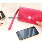 """""""พร้อมส่ง""""กระเป๋าใส่iPhone แบบกล่อง -สีชมพูเข้ม"""