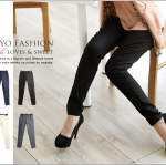 ♡♡Pre Order♡♡ กางเกงสกินนี่ขายาว ช่วงเอวเล่นแถบสีดำเก๋ๆ สวมใส่สบาย เนื้อผ้านิ่ม