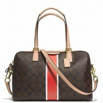 Coach Signature Stripe Nancy Satchel # 30662