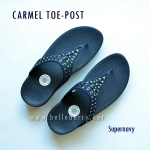 **พร้อมส่ง** FitFlop : CARMEL Toe-Post : Supernavy : Size US 6 / EU 37