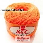 ด้ายถัก Summer S&C สีพื้น รหัส 5222