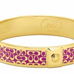 COACH 1/2 IN SIGNATURE BANGLE # 96855