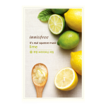 พร้อมส่ง INNISFREE IT'S REAL SQUEEZE MASK-LIME 잇츠 리얼 스퀴즈 라임 마스크 950 won