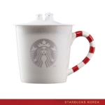 Preorder STARBUCKS KOREA 2016 Candy Cane Polar Bear Mug 355ml