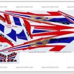 สติ๊กเกอร์ SONIC ปี 2003 ลายธงชาติ