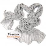 ผ้าพันคอแฟชั่นเกาหลีสีพื้น Hot Basic : สีเทาอ่อน CK0408