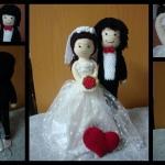 คู่บ่าวสาวแต่งงาน