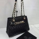 กระเป๋า Chanel มาใหม่ งานสวยเนี๊ยบ เย็บเป็นเส้นสวย  มี 2 ช่อง ขนาด 12 นิ้ว  สีดำ
