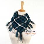 ผ้าพันคอชีมัค Shemash (เนื้อผ้า Cotton) : สีน้ำเงินดำ CV0002