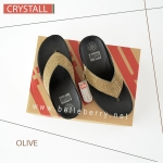 FitFlop : CRYSTALL : Olive : Size US 7 / EU 38