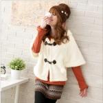 """""""พร้อมส่ง""""เสื้อผ้าแฟชั่นสไตล์เกาหลีราคาถูก Brand Tokyo Fashion เสื้อคลุมกันหนาวสีขาว ทรงค้างคาว มีฮู้ด น่ารัก"""