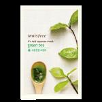 พร้อมส่ง INNISFREE IT'S REAL SQUEEZE MASK-GREEN TEA 잇츠 리얼 스퀴즈 그린티 마스크 950 won