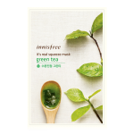 Preorder innisfree INNISFREE IT'S REAL SQUEEZE MASK-GREEN TEA 잇츠 리얼 스퀴즈 그린티 마스크 1매/20mL정가950원 판매가격 950 원won