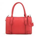 """""""พร้อมส่ง""""กระเป๋าแฟชั่น Maomao กระเป๋าถือ สะพายก็ได้ แบบเรียบๆ ใบใหญ่ จะของได้เยอะ มีสายสะพายให้ค่ะ -สีแดง"""