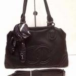 กระเป๋า Chanel    มาใหม่ ทรงสวยเก๋ น่ารัก ขนาด 13 นิ้ว พร้อมสายยาว สีดำ