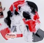 ผ้าพันคอแฟชั่นลายเก๋ Indy : สีแดง CK0068