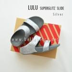 **พร้อมส่ง** FitFlop LULU Superglitz Slide : Silver : Size US 5 / EU 36