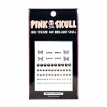 Etude House Pink Skull Play nail stickers.