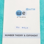 ►We Brain◄ MA 4419 หนังสือกวดวิชา คณิตศาสตร์ ม.4 ทฤษฎีจำนวน และเลขยกกำลัง มีสรุปเนื้อหา สูตรสำคัญ ก่อนตะลุยทำโจทย์แบบฝึกหัด มีข้อควรรู้ ข้อควรระวัง เทคนิคลัดเยอะมาก จดเล็กน้อย โจทย์ Assignment มีเฉลยละเอียดและวิธีทำละเอียด