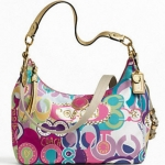 COACH Signature Print Convertible Hobo # 19438 สี Multicolor