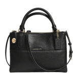 COACH SMALL TURNLOCK BOROUGH BAG IN PEBBLED LEATHER # 33732 สี BLACK