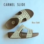 **พร้อมส่ง** FitFlop : CARMEL Slide : Rose Gold : Size US 6 / EU 37