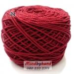 เชือกฟอก สี 21 สีแดงเช้ม (แดงมะเหมี่ยว)