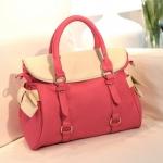 กระเป๋าแฟชั่นAxixi กระเป๋าถือ สะพายได้ด้วย สีชมพู แต่งโบว์สีขาว2 ข้าง มีสายสะพายให้ น่ารักค่ะ
