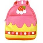 """""""พร้อมส่ง""""กระเป๋าเป้เด็กราคาถูก Brand LINDALINDA เหมาะกับเด็กเล็กในการสะพายไปเที่ยว หรือไปเรียนค่ะ มี2ซิป จุของได้เยอะค่ะ -ลายshort cake(เค้กชมพู)"""