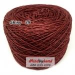 ไหม Cotton Shiny รหัสสี 29 สีน้ำตาลแดง