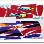 สติ๊กเกอร์ KR-ZX ปี 99 รุ่น 4 ติดรถสีแดง