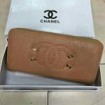 กระเป๋าสตางค์ Chanel มาใหม่แต่งโลโก้สวย ขนาด 4.5x7 นิ้ว ราคา 400 บาท สีน้ำตาล