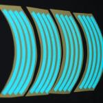สติ๊กเกอร์ติดขอบล้อสีสะท้อนแสง ขอบ 17 นิ้ว