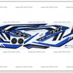 สติ๊กเกอร์ M-SLAZ ปี 2016 รุ่น 1 ติดรถสีน้ำเงิน (โลโก้นูน)