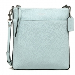Coach Bleecker Sea Mist Pebbled Leather NS Swingpack Crossbody # 51629