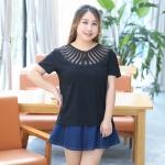 เสื้อยืดไซส์ใหญ่ สีดำ (XL,2XL,3XL,4XL)