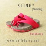 **พร้อมส่ง** รองเท้า FitFlop Sling (Webbing) : Raspberry : Size US 6 / EU 37