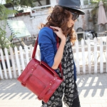 """""""พร้อมส่ง""""กระเป๋าแฟชั่น Maomao กระเป๋าสะพาย สไตล์British retro สวยค่ะ -สีแดง"""