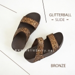 * NEW * FitFlop : GLITTERBALL Slide : Bronze : Size US 7 / EU 38