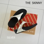 * NEW * FitFlop The Skinny : Silver : Size US 6 / EU 37