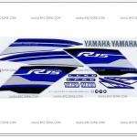 สติ๊กเกอร์ R15 ปี 2016 รุ่น 2 ติดรถสีน้ำเงิน-เทา