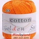 ไหมพรม Cotton 100% รหัสสี 03 Orange